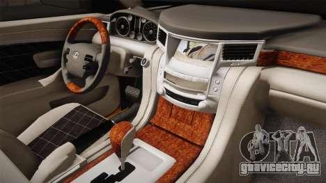 Lexus LX570 S для GTA San Andreas вид сзади