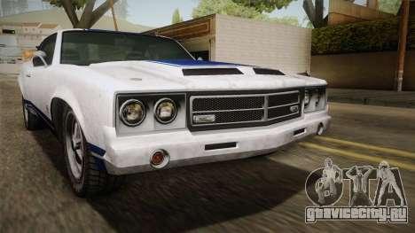 GTA 5 Declasse Sabre GT Painted Bumpers для GTA San Andreas вид сверху