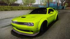 Dodge Challenger Hellcat Liberty Walk LB Perform для GTA San Andreas