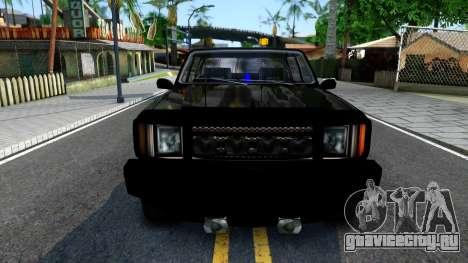 Tuned FBI Rancher для GTA San Andreas вид изнутри
