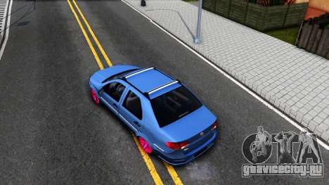 Fiat Siena для GTA San Andreas вид сзади