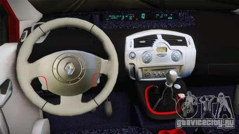 Renault Scenic Mk2 Crveni Taxi для GTA San Andreas вид изнутри