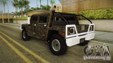 New Patriot Hummer для GTA San Andreas вид сзади слева