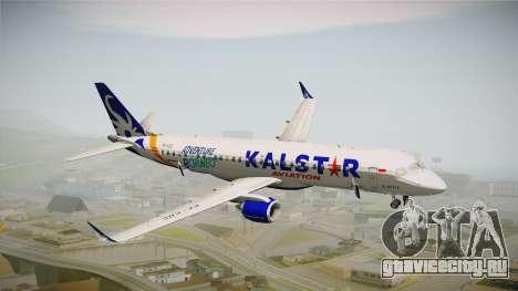 E-195 KalStar Aviation для GTA San Andreas вид сзади слева