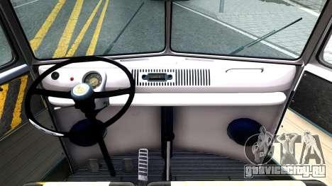Volkswagen Transporter T1 Stance V2 для GTA San Andreas вид изнутри