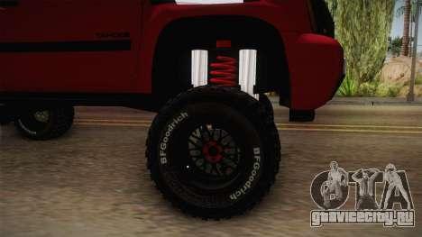 Chevrolet Tahoe Semi Offroad VZLA Edition для GTA San Andreas вид сзади