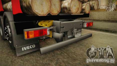 Iveco Stralis Hi-Way 560 E6 6x2 Timber v3.0 для GTA San Andreas вид снизу
