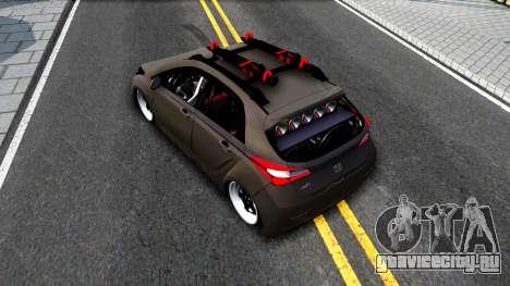 Hyundai HB20 для GTA San Andreas вид сзади