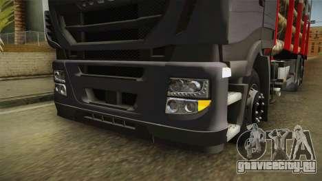 Iveco Stralis Hi-Way 560 E6 6x2 Timber v3.0 для GTA San Andreas вид сверху