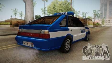 Daewoo-FSO Polonez Caro Plus Policja 2 1.6 GLi для GTA San Andreas вид сзади слева