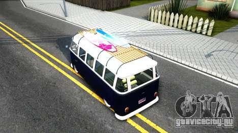 Volkswagen Transporter T1 Stance V2 для GTA San Andreas вид сзади