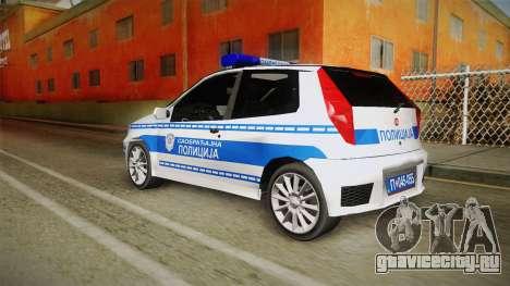 Fiat Punto Саобраћајна Полиција для GTA San Andreas вид слева