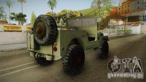 Jeep from The Bureau XCOM Declassified v2 для GTA San Andreas вид сзади слева