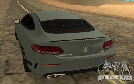 Mercedes-Benz C63S 2017 для GTA San Andreas вид сзади слева