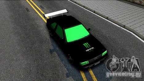GTA 5 Karin Futo - Monster Energy для GTA San Andreas вид справа