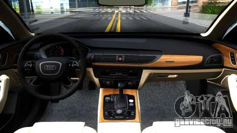 Audi RS7 Sportback для GTA San Andreas вид изнутри