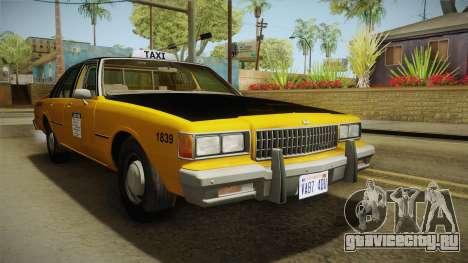 Chevrolet Caprice Taxi 1986 для GTA San Andreas