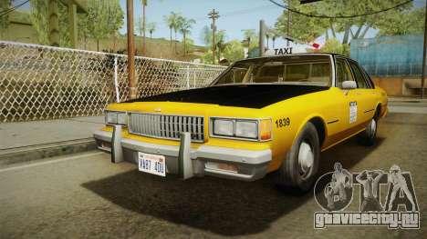 Chevrolet Caprice Taxi 1986 для GTA San Andreas вид сзади слева
