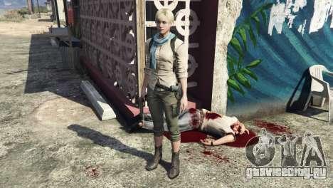 Sherry Birkin Resident Evil 6 для GTA 5 второй скриншот