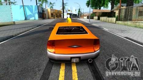 Kuruma GTA 3 Taxi для GTA San Andreas вид сзади слева