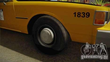 Chevrolet Caprice Taxi 1986 для GTA San Andreas вид сзади