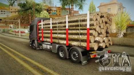 Iveco Stralis Hi-Way 560 E6 6x2 Timber v3.0 для GTA San Andreas вид сзади слева