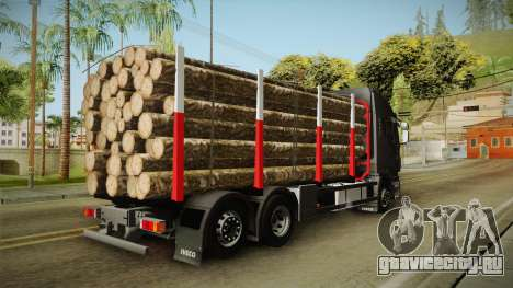 Iveco Stralis Hi-Way 560 E6 6x2 Timber v3.0 для GTA San Andreas вид слева