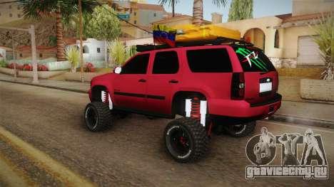 Chevrolet Tahoe Semi Offroad VZLA Edition для GTA San Andreas вид слева