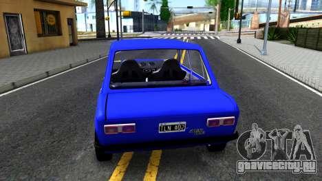 Fiat 128 v2 для GTA San Andreas вид сзади слева