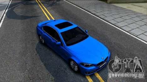 BMW 520i F10 для GTA San Andreas вид справа