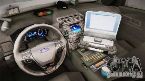 Ford Explorer 2012 Angel Pine PD для GTA San Andreas вид изнутри