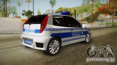 Fiat Punto Саобраћајна Полиција для GTA San Andreas вид справа