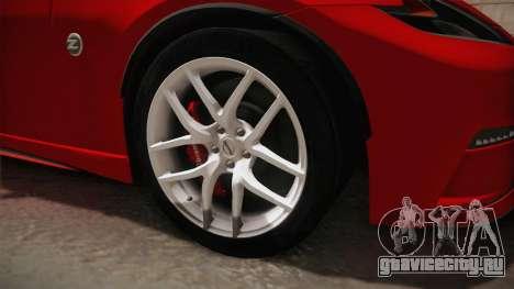 Nissan 370Z Nismo 2016 SA Plate для GTA San Andreas вид сзади