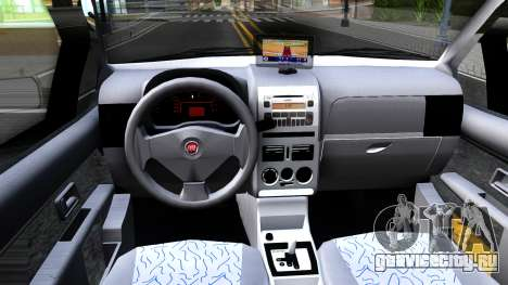Fiat Siena для GTA San Andreas вид изнутри