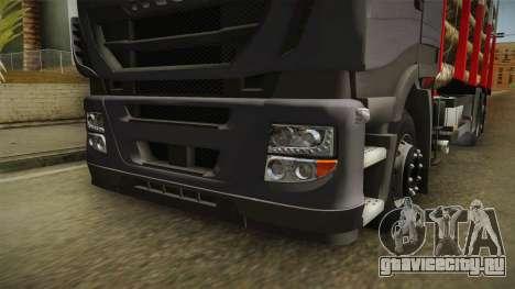 Iveco Stralis Hi-Way 560 E6 6x2 Timber v3.0 для GTA San Andreas вид сбоку