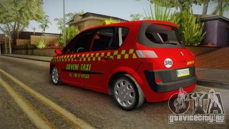 Renault Scenic Mk2 Crveni Taxi для GTA San Andreas вид справа