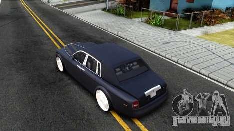 Rolls-Royce Phantom для GTA San Andreas вид сзади