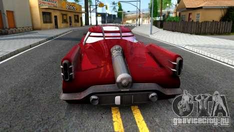 XNA Corvega Fallout 4 для GTA San Andreas вид сзади слева