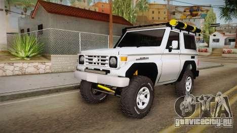 Toyota Land Cruiser Machito для GTA San Andreas вид справа