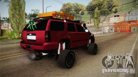 Chevrolet Tahoe Semi Offroad VZLA Edition для GTA San Andreas вид справа
