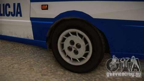 Daewoo-FSO Polonez Caro Plus Policja 2 1.6 GLi для GTA San Andreas вид сзади