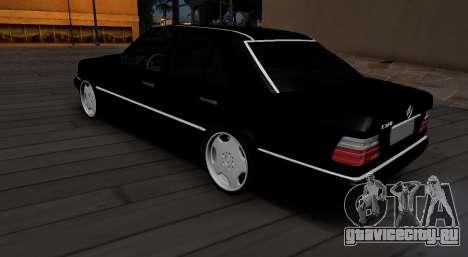 Mercedes-Benz W124 E320 для GTA San Andreas вид сзади слева