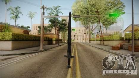 The Elder Scrolls V: Skyrim - Steel Sword для GTA San Andreas третий скриншот