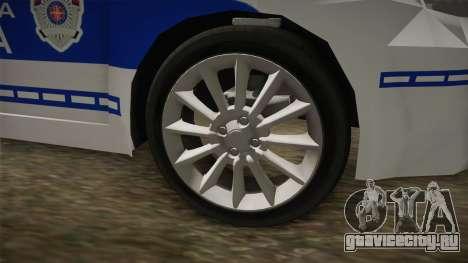 Fiat Punto Саобраћајна Полиција для GTA San Andreas вид сзади