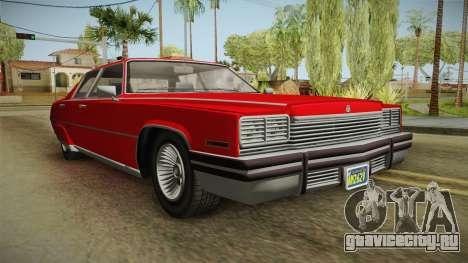 GTA 5 Albany Manana 4-doors для GTA San Andreas вид справа