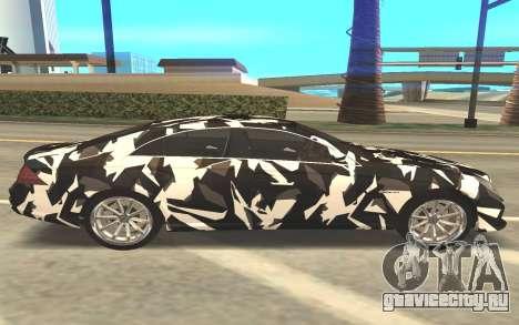 Mersedes-Benz CLS 63 для GTA San Andreas вид слева