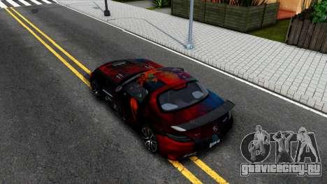 Mercedes-Benz SLS AMG Space для GTA San Andreas вид сзади