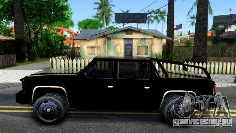 Tuned FBI Rancher для GTA San Andreas вид слева