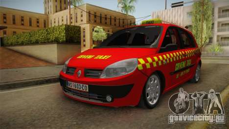 Renault Scenic Mk2 Crveni Taxi для GTA San Andreas
