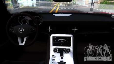 Mercedes-Benz SLS AMG Space для GTA San Andreas вид изнутри